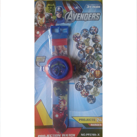 Avengers 24 Images Projector Watch (Multicolor)