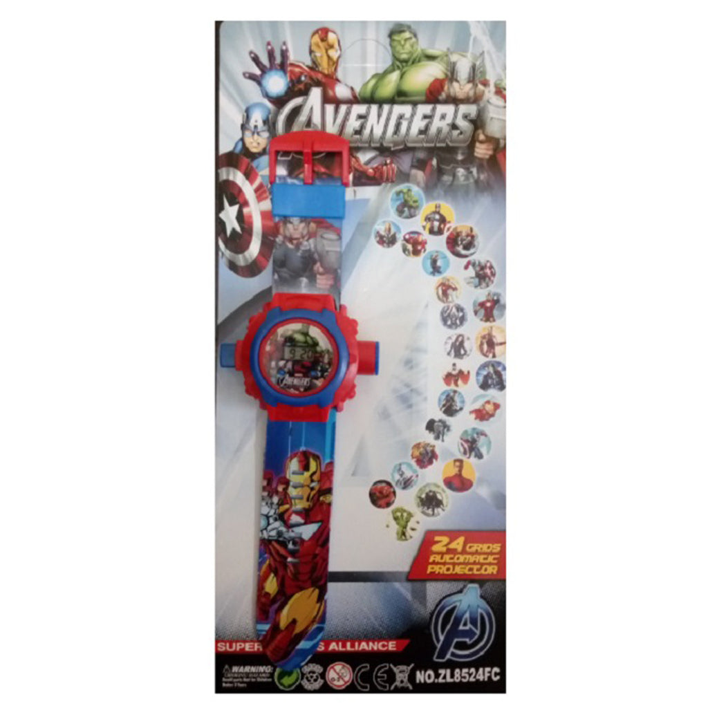 Toys buggy Avengers 24 Image Projector Watch (Multicolor)