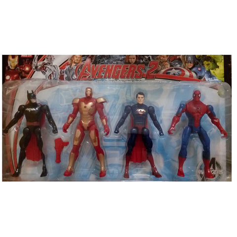 Avengers Collectible 4 In 1 Action Figure Set (Multicolor)