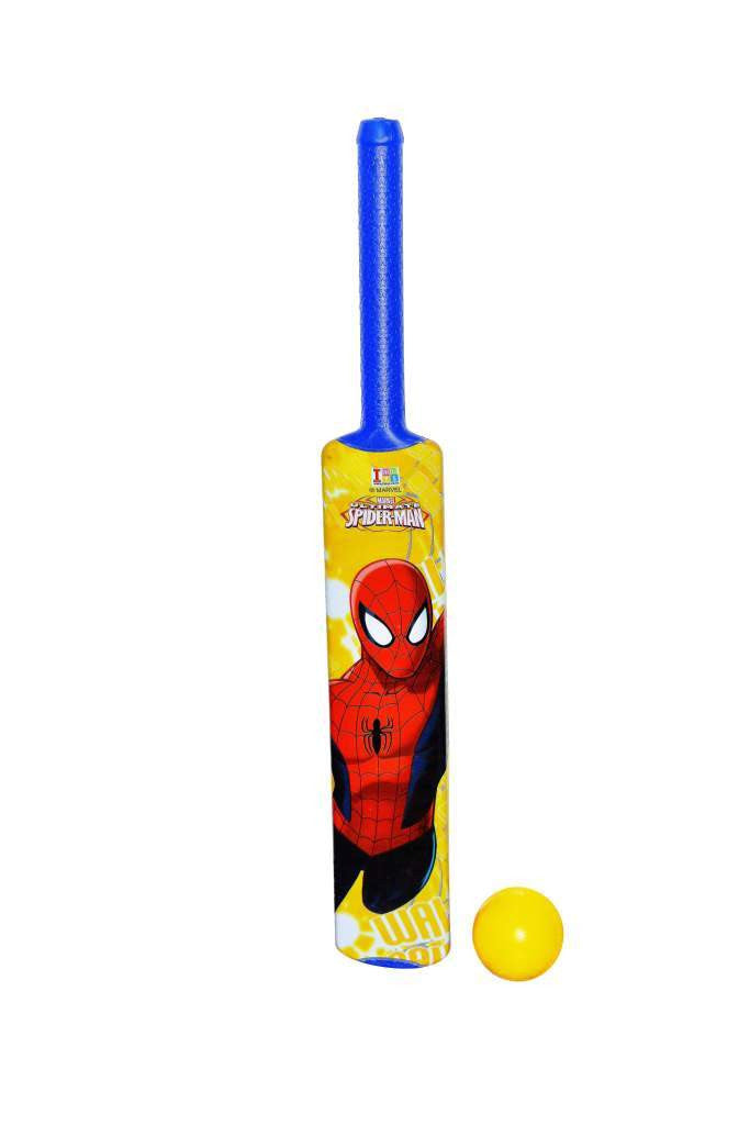 Spiderman Bat And Ball - Plastic - Senior