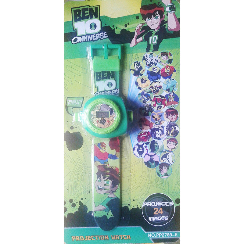 Toys Buggy Ben10 24 Images Projector Watch (Multicolor)
