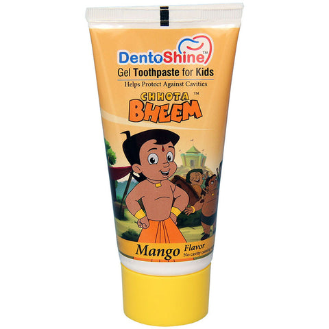 DentoShine Gel Toothpaste For Kids (Chhota Bheem) - Mango  - 80 g