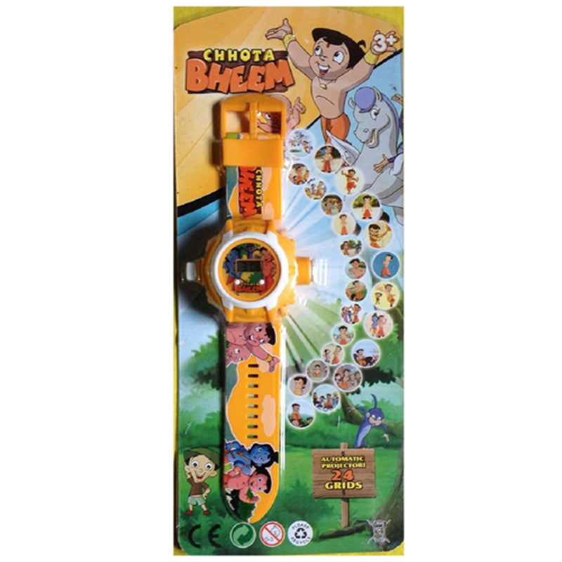 Chhota Bheem New 24 Images Projector Watch (Orange)