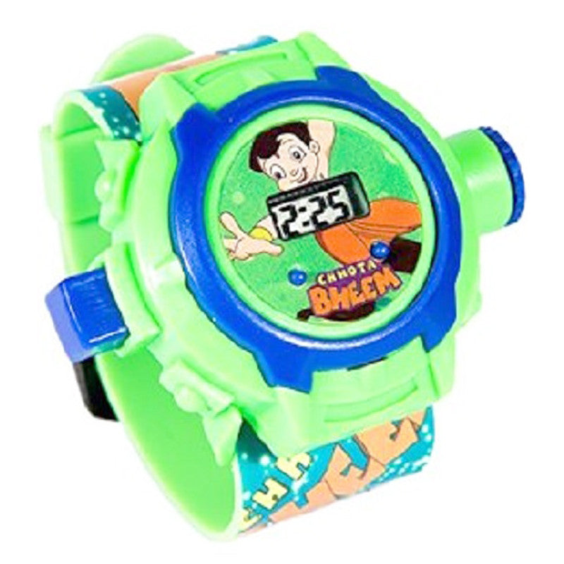 Chhota Bheem 24 Images Projector Watch (Green)