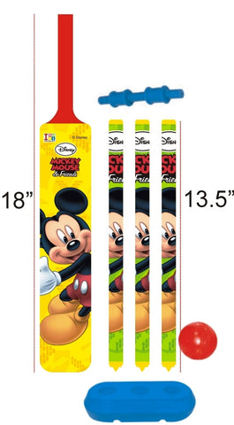 Mickey Mouse - Cricket Set - Plastic - Junior