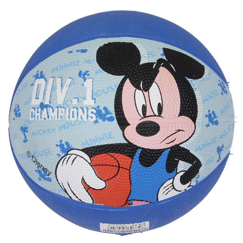 "Mickey Rubber Basketball 3"" - Blue"