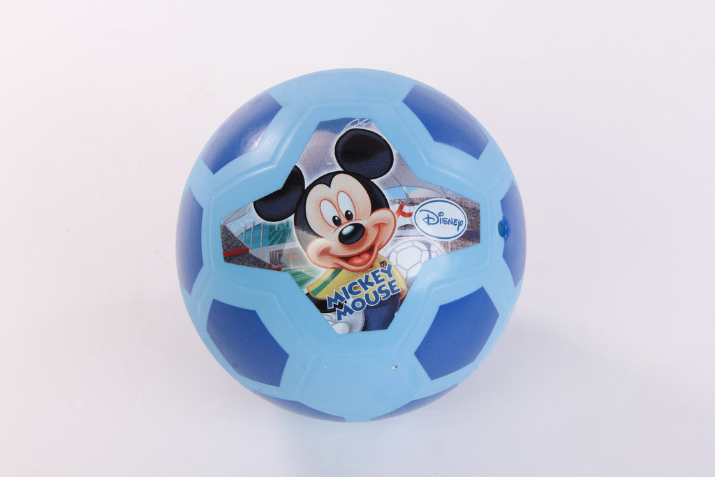 Disney Mickey Pvc Soccer Basket Play Ball - Blue
