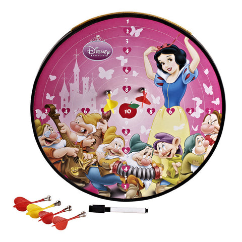 Disney Princess Funny Multi-Function Magnetic Dartboard (Including 3 Darts) - Pink