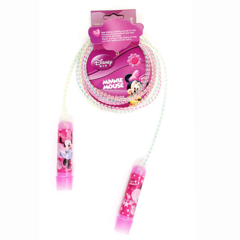 Minnie Plastic Rainbow Jump Rope - Pink