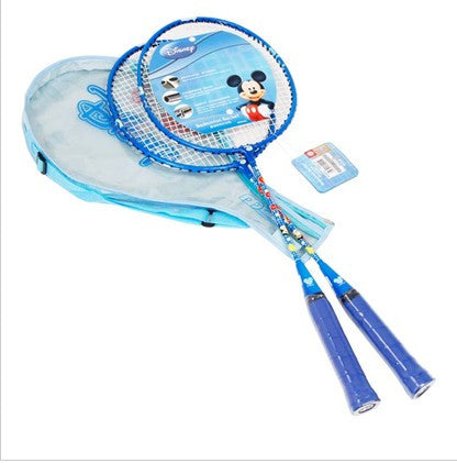 Mickey Badminton Rackets With 3/4 Cover One Side Transparent - Blue
