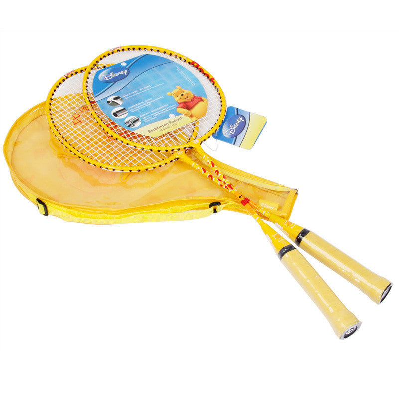 Disney Winnie The Pooh Badminton Rackets With 3/4 Cover One Side Transparent - Yellow