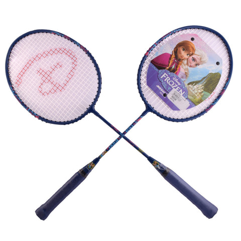 Frozen Badminton Rackets With 3/4 Cover One Side Transparent - Pink