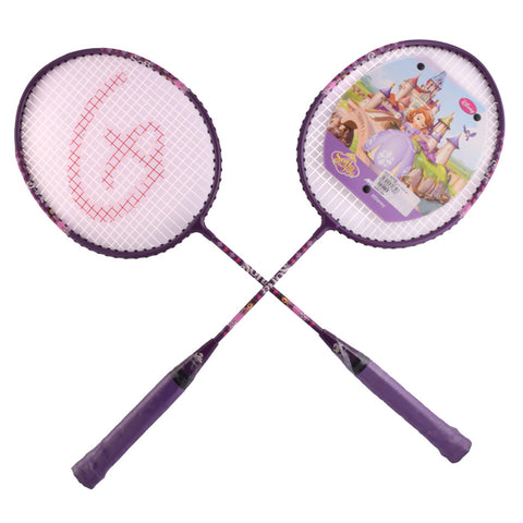 Disney Sofia Badminton Rackets with 3/4 Cover - Blue
