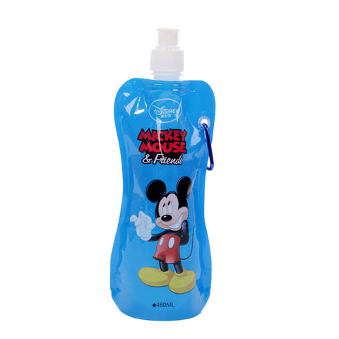 Disney Mickey Folding Water Bottle - Blue