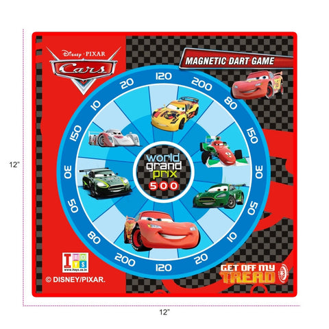 Cars Dart Game And Writing Board (2-in-1)