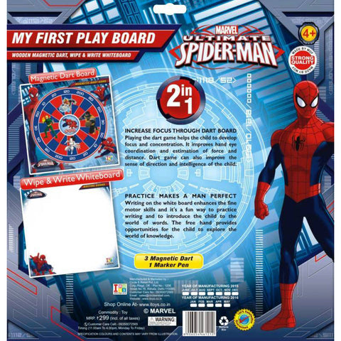 Spiderman Dart Game And Writing Board (2-in-1)