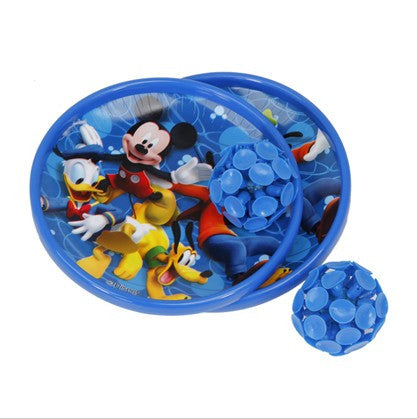 Disney Mickey Catch Ball Set With Light ( Two Balls Two Plates) - Blue