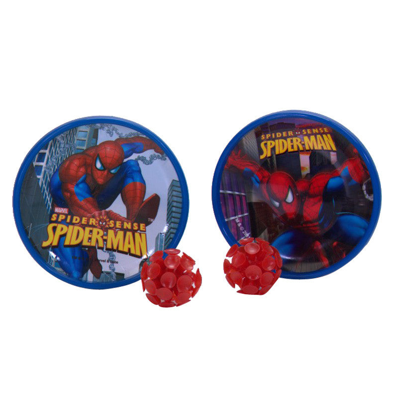 Disney Spiderman Catch Ball (2 Plates 2 Balls)  - Red