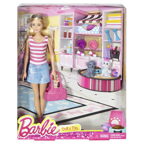 Barbie  With Pets Set