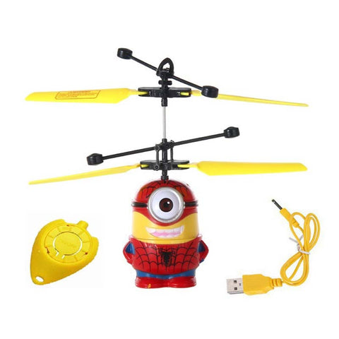 New Flying Despicable Me 3 Spiderman Minion Induction Control Aircraft (Multicolor)