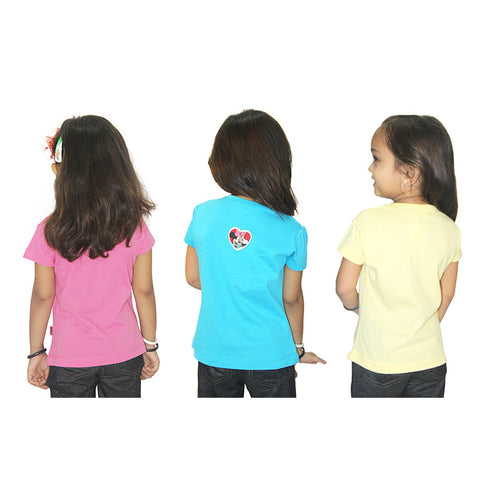 Disney Minnie & Daisy Duck Girls Top Combo (Pack Of 3)
