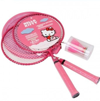 Hello Kitty Rackets Set ( Rackets + Shuttle Cock) - Pink