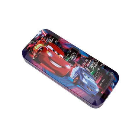 Disney Pixar Car Cartoon Art Metal Pencil Box
