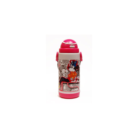 Disney Minnie Mouse Push Button 450 ml Water Bottle