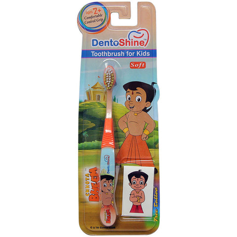 DentoShine Tooth Brush Kids (Ages 2+)  - Orange  (Chhota Bheem)