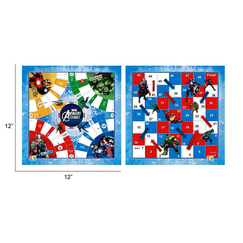 Avengers Ludo and Slides & Ladders Game Board