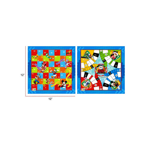 Mickey and Friends Ludo and Slides & Ladders Game Board