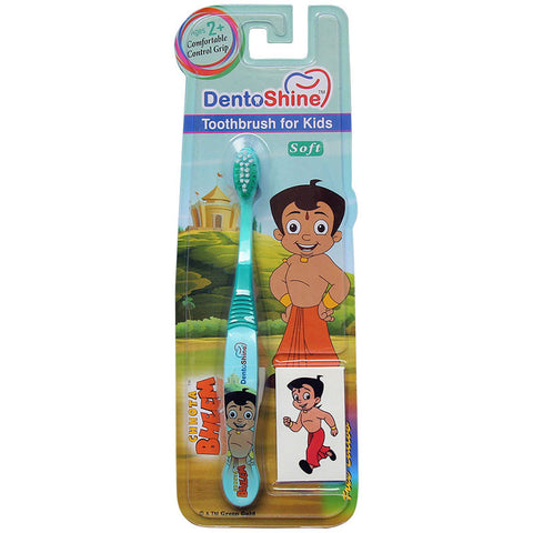 DentoShine Tooth Brush Kids (Ages 2+)  - Green (Chhota Bheem)