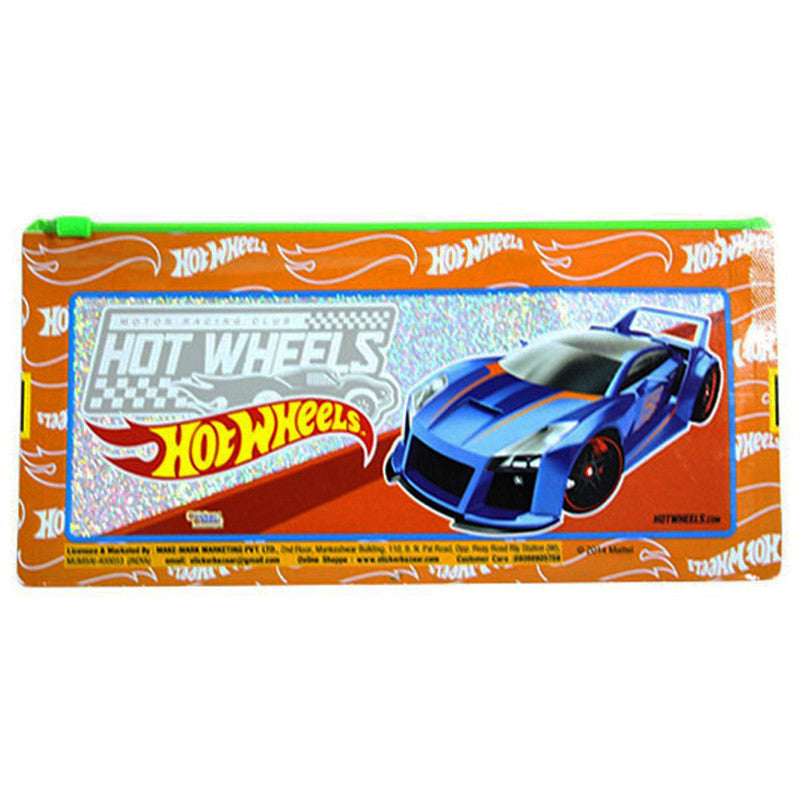 Pencil Sparkle Pouch Of  Hot Wheels