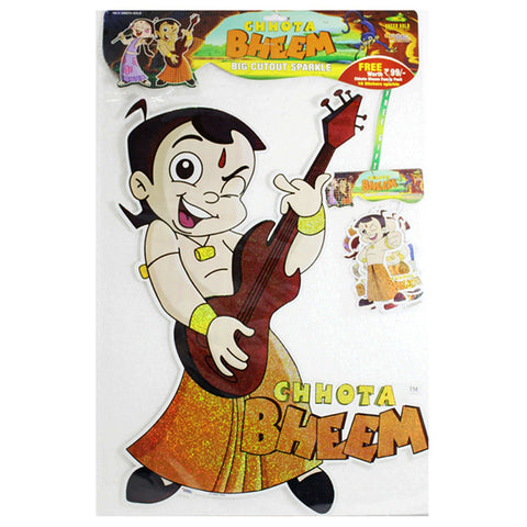 Big Cutout Sparkle Sticker Of Chhota Bheem