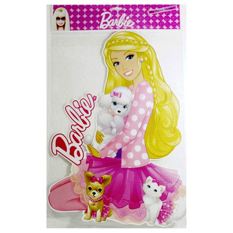 Big Cutout Sticker Of Barbie
