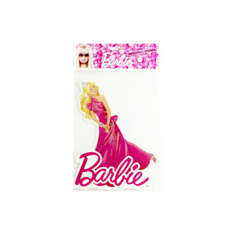 Offically Licensed- A4 Cutout Sticker Of Barbie