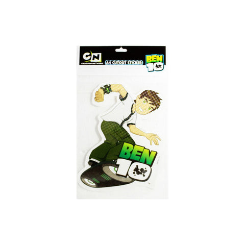 Offically Licensed- A4 Cutout Sticker Of BEN 10