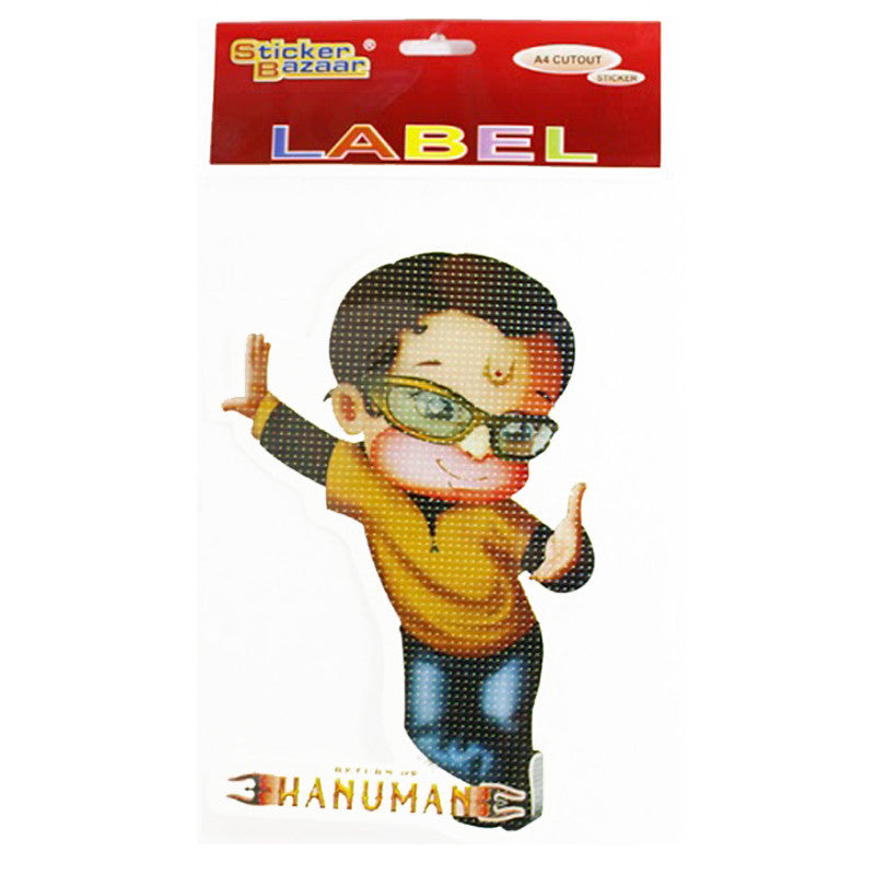 Offically Licensed- A4 Cutout Sticker Of Hanuman