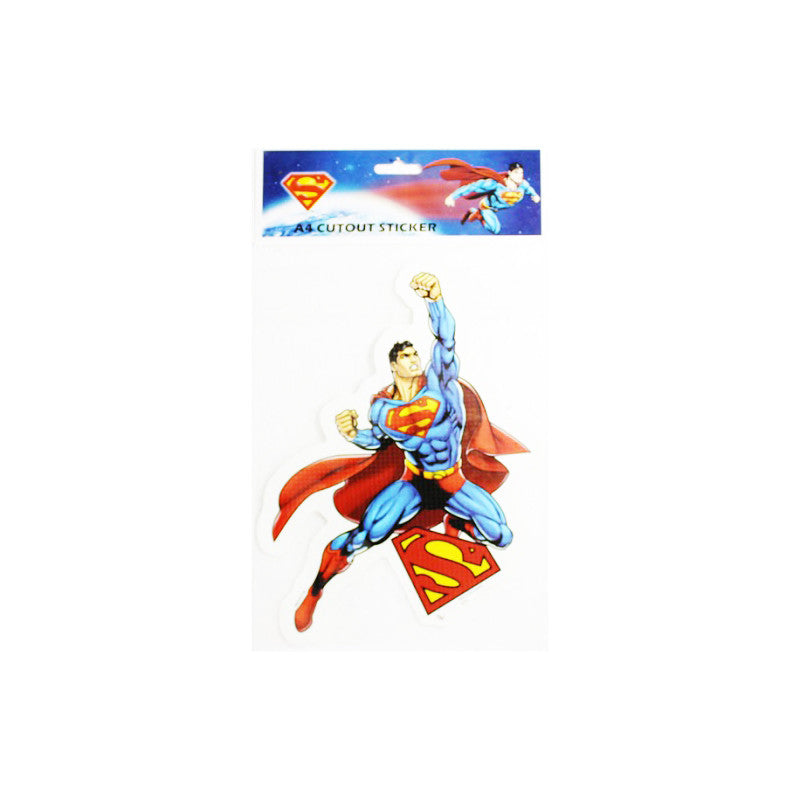 Offically Licensed- A4 Cutout Sticker Of Superman