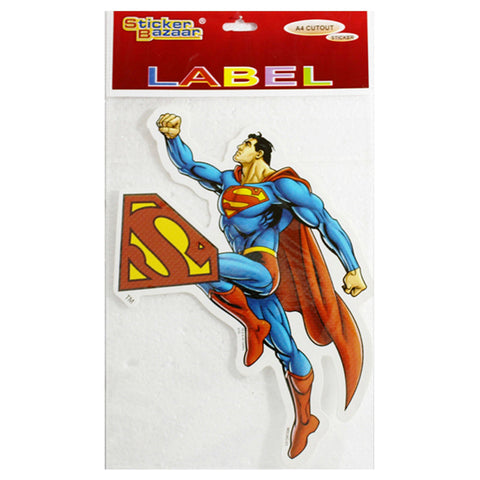 A4 Cutout Sticker Of Superman