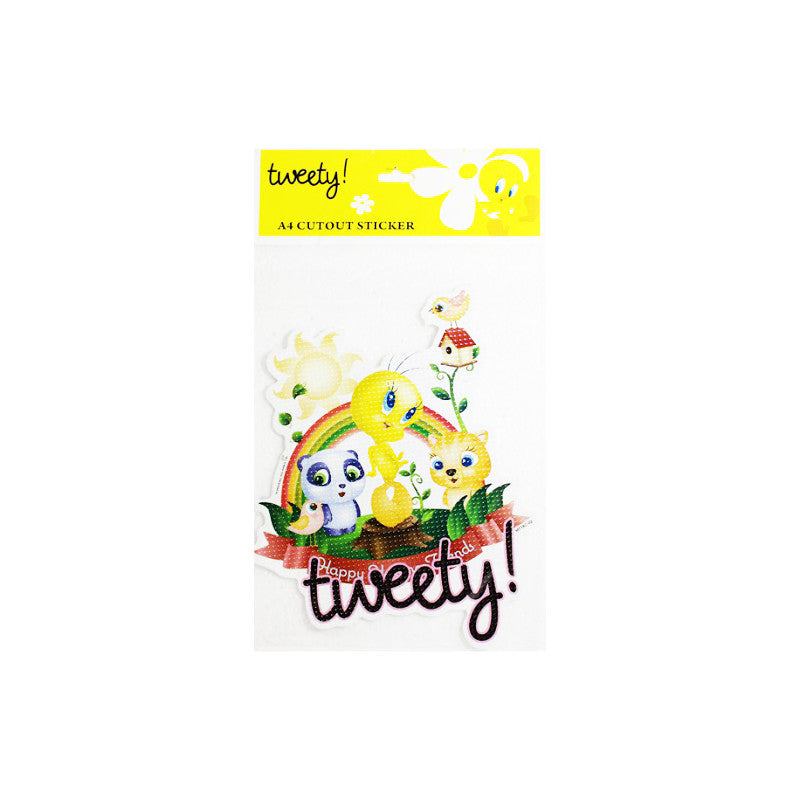 Offically Licensed- A4 Cutout Sticker Of Tweety