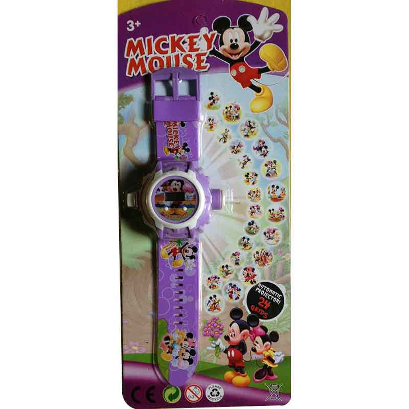Toys Buggy Mickey Mouse 24 Images Projector Watch (Purple)