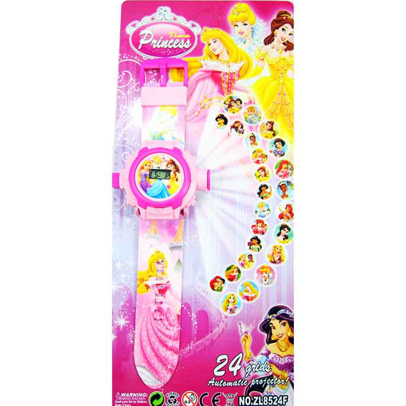 Toys Buggy Princess 24 Images Projector Watch (Pink)