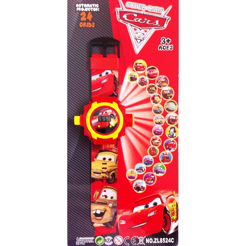 Toys Buggy Cars New 24 Images Projector Watch (Red)