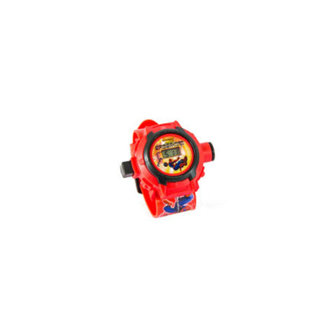 Toys Buggy Spiderman New 24 Images Projector Watch (Red)