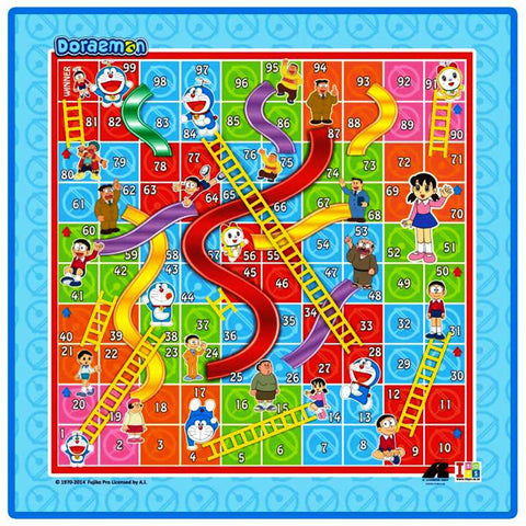Doraemon Writing Board and Slides & Ladders Game