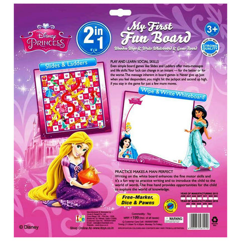 Princess Writing Board and Slides & Ladders Game