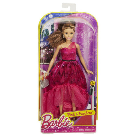 Barbie  Pink Fabulous Gown Doll