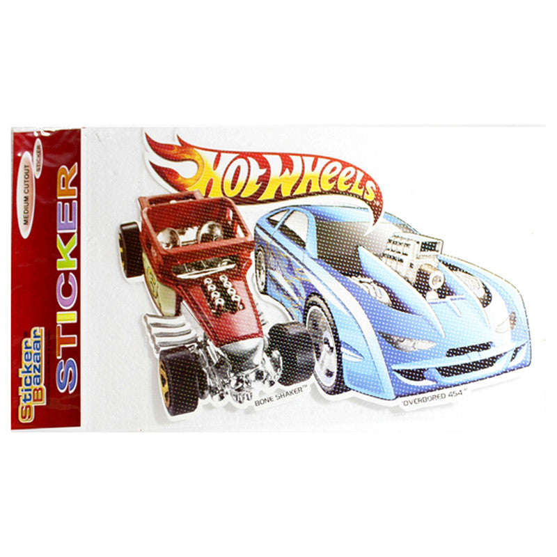 Medium Cutout Sticker Of Hot Wheels