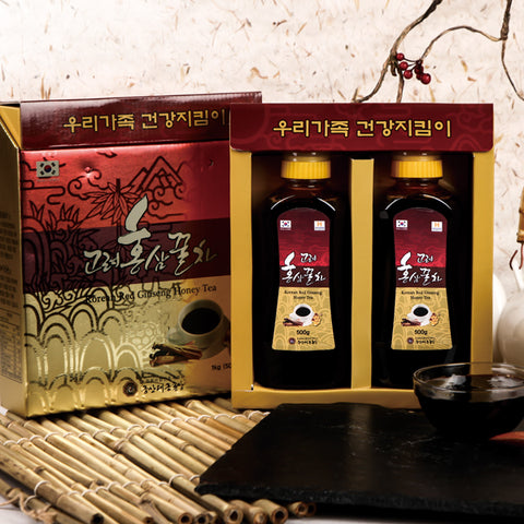 Korean Red Ginseng Honey Tea 1kg(500g x 2ea) /  고려 홍삼 꿀차 1 kg (500g x 2ea)